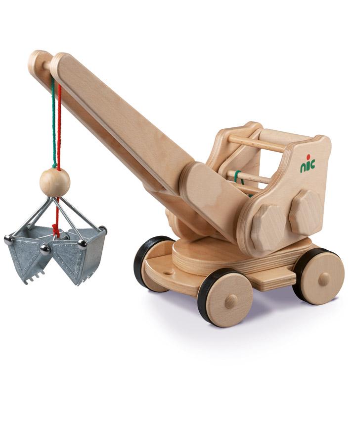 Seilbagger aus Holz
